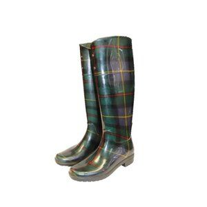 Ralph Lauren Plaid Tartan Tall Rainboots